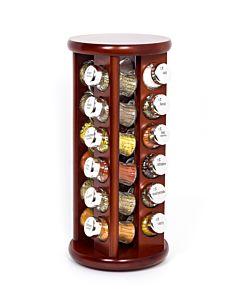 Gewürzregal; Gewürzkarussell für Gewürze und Kräuter; Holz ;24 Gläser