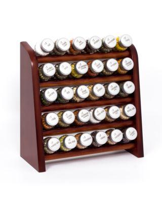 Gewürzregal; Küchenregal aus Holz für Gewürze und Kräuter; 30 Gläser; Gald – 30N