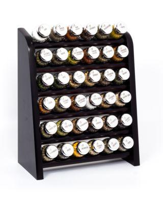 Gewürzregal; Küchenregal aus Holz für Gewürze und Kräuter; 36 Gläser; Gald – 36N