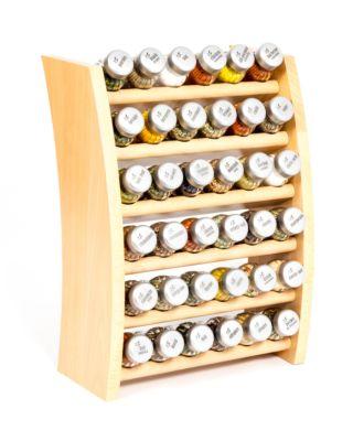 Gewürzregal; Küchenregal aus Holz für Gewürze und Kräuter; 36 Gläser; Gald – 36F-6x6